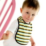 Piccalilly organic bib in stripes